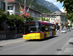 Postauto - Solaris  BE  610537 unterwegs in Interlaken am 25.07.2020