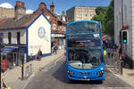 "Norwich, Red Lion Street,   First Norwich"" Bus BD11CGE No. 36179, Volvo B9TL Wright Eclipse-Gemini 2, als Linie 26 zur University of East Anglia, 2017,05,18"
