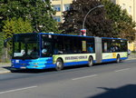 Im SEV S41 /S42 (Ring) in Berlin, ein MAN Lions City G, OHV-VK 120 der OVG im August 2016.