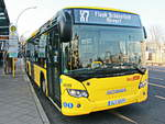 Scania Citywide der BVG in Berlin am U-Bahnhof Rudow am 07.