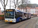 MVG Mercedes Benz Citaro 2 G Wagen 768 am 02.12.17 in Mainz Schillerplatz
