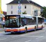 ESWE Verkehr MAN Lions City G Wagen 367 am 16.09.17 in Mainz Kastel (Wiesbaden)