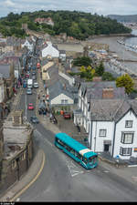 Arriva Wales Bus in der Castle Street in Conwy am 16.