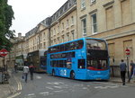 Stadtlinienbusse am 19.6.2016 in Oxford, Grafschaft Oxfordshire, England /