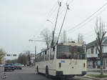 Ein Trolleybus in Bila Tserkva (Ukraine, April 2016)