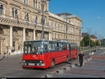 Ikarus Trolleybus BKV 233 am 12. Juli 2018 bei der Corvinus-Universität in Budapest.