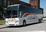 Prevost H3/45  Nancy & Udean Christian Tours . Aufgenommen am 19. Mai 2016 in Nashville, Tennessee / USA.