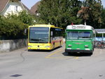 BLT - Mercedes Citaro Nr.75  BL 115676 neben Ex BVB Nr.75 in Bottmingen am 11.09.2016