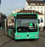 BVB Mercedes Benz Citaro 1 Facelift G (CNG) Wagen 718 am 23.03.17 in Basel