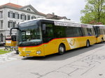 Postauto - Iveco Crossway AR 14857 bei den Haltestellen in Heiden am 15.05.2016