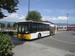 Postauto/PU Bossi GR 82488 (MAN A21 Lion's City) am 8.7.2016 beim Bhf.