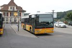 Postauto/Regie Bern BE 653 386 ''Spiez'' (Mercedes Citaro Facelift O530) am 3.9.2016 beim Bhf.