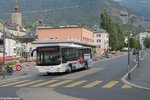 Postauto/Regie Brig VS 449 117 ''Lauber'' (MAN A21 Lion's City) am 3.9.2016 in Brig, Briggustutz.