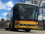 Setra 315 NF am 16.4.16 beim Bhf Le Locle.