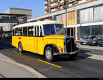 ex Postauto - Oldtimer Saurer BE  136580 unterwegs in Zollikofen am 04.08.2019