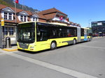 STI - MAN Lion`s City  Nr.144  BE 801144 bei den Bushaltestellen vor dem Bahnhof in Interlaken Ost am 06.05.2016
