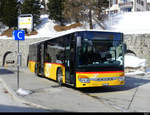 Postauto - Setra S 415 NF  GR 102375 in St. Moritz am 19.02.2021