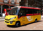 Postauto - Iveco First  TI  265306 unterwegs in Bellinzona am 16.05.2019
