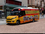 Postauto - Iveco First  TI  272433 unterwegs in der Stadt Bellinzona am 17.07.2020