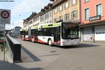 RVBW/Twerenbold Nr. 302 (MAN A23 Lion's City GL) am 10.5.2016 in Baden, Schlossbergplatz