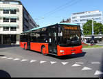 Funi Car - MAN Lion`s City  BE  100203 unterwegs in der Stadt Biel am 25.05.2020