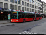 VB Biel - Mercedes Citaro  Nr.155  BE  666155 unterwegs in der Stadt Biel am 20.01.2021
