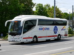 Reisebus Scania Irizar unterwegs in Lausanne am 10.05.2016