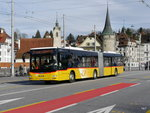Postauto - MAN Lion`s City LU 15527 unterwegs in Luzern am 28.03.2016