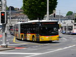 Postauto - MAN Lion`s City LU 15527 unterwegs in der Stadt Luzern am 21.05.2016