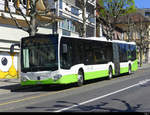TransN - Mercedes Citaro Nr.376  NE 146376 unterwegs in Neuchâtel am 24.04.2021