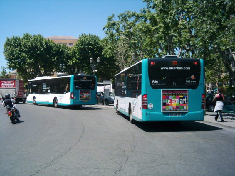 zwei citaro ii an der rotonde in aix en provence bus. Black Bedroom Furniture Sets. Home Design Ideas